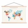 Afbeelding van Wereldkaart I Haven't Been Everywhere Kleuren - Schoolplaat 60x40