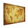 Wereldkaart Perkament Geel