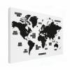 Wereldkaart Zwart Gebiednamen