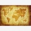Afbeelding van Wereldkaart Perkament Geel - Poster 120x80