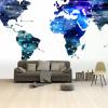 Afbeelding van Wereldkaart Artistiek Nachtkleuren - Airtex behang 265x400