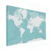 Wereldkaart Pastel Zee Winter