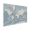 Afbeelding van Wereldkaart Perspectief Blauwtint - Poster 40x30