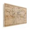 Afbeelding van Wereldkaart Magnetische Curven - Verticale planken hout 90x60