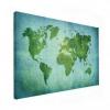 Wereldkaart Vervaagd Groen