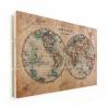 Afbeelding van Wereldkaart Historisch Tweedelig - Horizontale planken hout 80x60