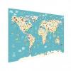 Afbeelding van Wereldkaart Spot Alle Dieren - Poster 160x80