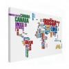 Wereldkaart Continenten In Tekst Kleur