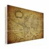 Afbeelding van Wereldkaart Oude Zeekaart - Horizontale planken hout 120x80