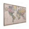 Afbeelding van Wereldkaart Aardrijkskundig Terrein - Houten plaat 60x40