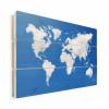 Afbeelding van Wereldkaart Wolken - Verticale planken hout 90x60