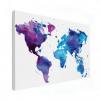 Wereldkaart Paarstint Aquarel