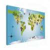 Wereldkaart Onze Bewoners Prent