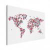 Wereldkaart Butterfly Earth