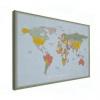 Afbeelding van Wereldkaart Aardrijkskundig Explore Kleuren - Canvas 100x50