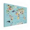 Wereldkaart Ons Dierenrijk En De Continenten