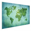 Afbeelding van Wereldkaart Vervaagd Groen - Poster 60x40