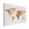 Wereldkaart Golden Marble