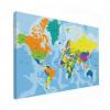Wereldkaart Aardrijkskundig Harde Kleuren