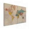 Wereldkaart Aardrijkskundig Stoffig