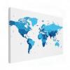 Wereldkaart Blauwtinten