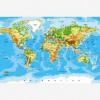 Afbeelding van Wereldkaart Klassiek - Houten plaat 120x80