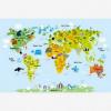 Afbeelding van Wereldkaart Voor Kinderen - Poster 150x100