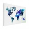 Wereldkaart Artistiek Nachtkleuren