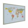 Afbeelding van Wereldkaart Aardrijkskundig Explore Kleuren - Poster 60x40
