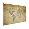 Afbeelding van Wereldkaart Back In The Day - Plexiglas 120x80