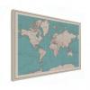 Wereldkaart Aardrijkskundig Rode Grenzen