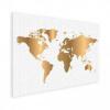 Afbeelding van Wereldkaart Golden Dots - Houten plaat 80x60