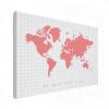 Wereldkaart We Need Some Pink