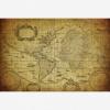 Afbeelding van Wereldkaart Oude Zeekaart - Poster 90x60