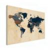 Wereldkaart Landen Donkere Tinten