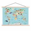 Afbeelding van Wereldkaart Ons Dierenrijk En De Continenten - Schoolplaat 90x60