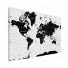 Wereldkaart Zwart Aardrijkskundig