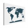 Wereldkaart Kruisjespatroon Blauw