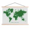Afbeelding van Wereldkaart Create A Green World - Schoolplaat 90x60