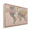 Afbeelding van Wereldkaart Aardrijkskundig Terrein - Verticale planken hout 120x80