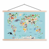 Afbeelding van Wereldkaart Ons Dierenrijk En De Continenten - Schoolplaat 60x40