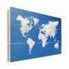 Afbeelding van Wereldkaart Wolken - Horizontale planken hout 120x80