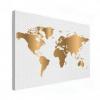 Wereldkaart Golden Dots