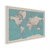 Afbeelding van Wereldkaart Aardrijkskundig Rode Grenzen - Poster 90x60