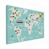 Wereldkaart Prent Vervoersmiddelen