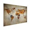 Afbeelding van Wereldkaart Vintage Kleuren - Houten plaat 120x80