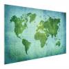 Afbeelding van Wereldkaart Vervaagd Groen - Houten plaat 120x80