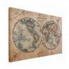 Wereldkaart The World Perkament