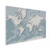 Afbeelding van Wereldkaart Perspectief Blauwtint - Houten plaat 40x30