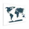 Afbeelding van Wereldkaart Kruisjespatroon Blauw - Houten plaat 80x60
